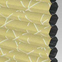 Geo Blackout Electric Honeycomb Blind - Primrose