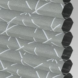 Geo Blackout Electric Honeycomb Blind - Titanium