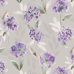 Zinnia Blackout Electric Roller Blind - Purple
