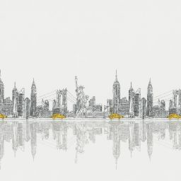 Skyline Electric XL Roller Blind - New York