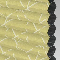 Geo Blackout Electric Honeycomb Blind - Primrose
