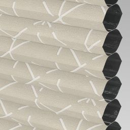 Geo Blackout Electric Honeycomb Blind - Oyster