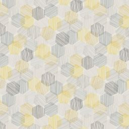 Hexagon Electric Roller Blind - Yellow