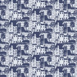 Whitby Blackout Electric Roller Blind - Navy