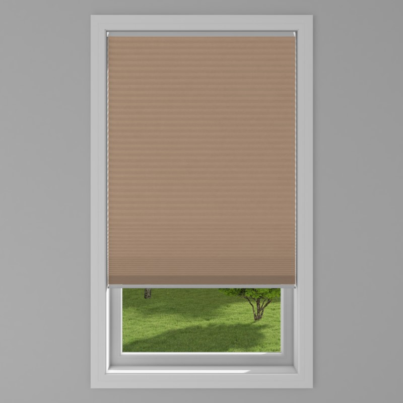An image of Blackout Electric Honeycomb Blind - Fudge