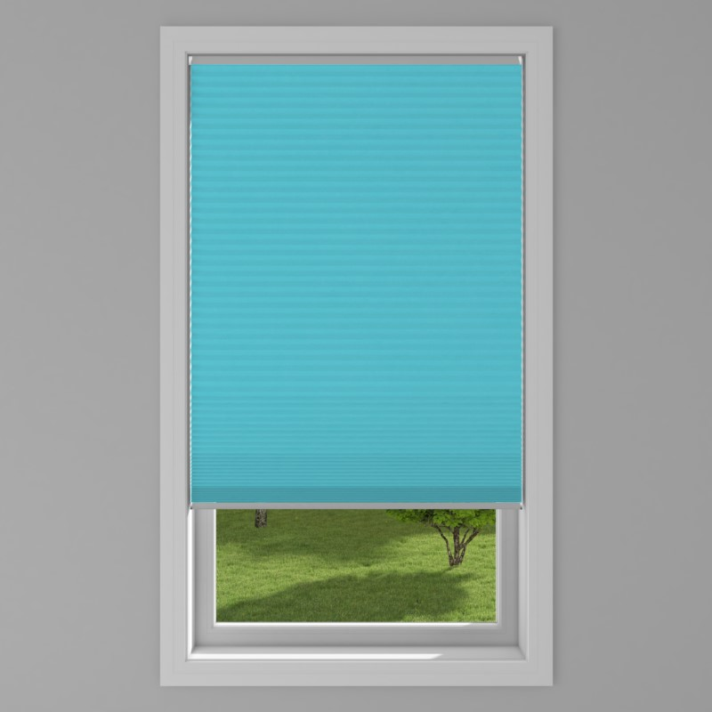An image of Blackout Electric Honeycomb Blind - Teal